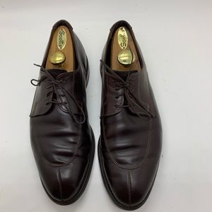 9.5 Wide Allen Edmonds Belmont Brown Oxfords